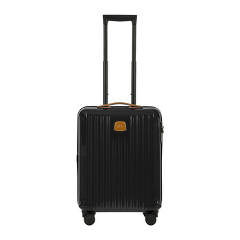Capri Trolley Suitcase - Black/Tobacco