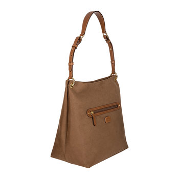 Life Handbag with Zip Front Pocket - Small - Camel