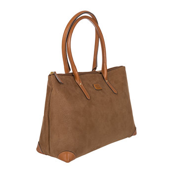 Life Handbag with Long Handles - Camel
