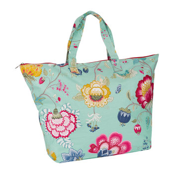 Floral Fantasy Beach Bag - Blue
