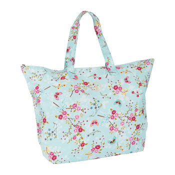 Chinese Blossom Beach Bag - Blue