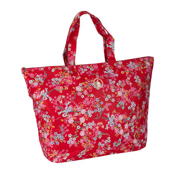 Chinese Blossom Beach Bag - Red