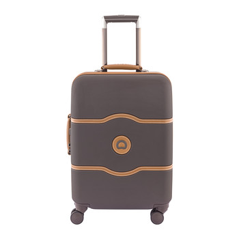 Chatelet Hard 4 Wheel Slim Trolley Case - 55cm - Chocolate