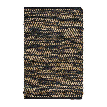 Bemba Leather & Hemp Rug - Natural/Ink