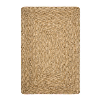 Braided Hemp Rug - Natural