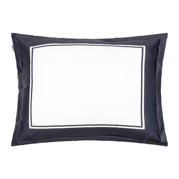 Border Pillowcase - 50x75cm - Sateen Blue