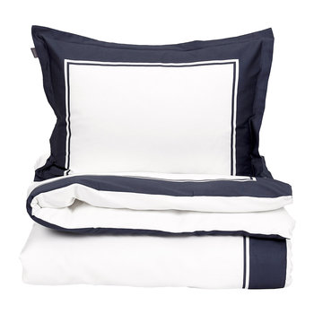 Border Duvet Cover - Sateen Blue