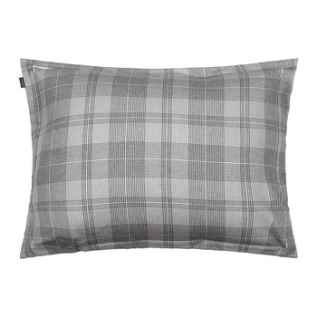 Flannel Check Pillowcase - Grey - 50x75cm