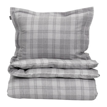 Flannel Check Duvet Cover - Grey