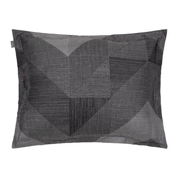 Grid Pillowcase - 50x75cm - Elephant Grey