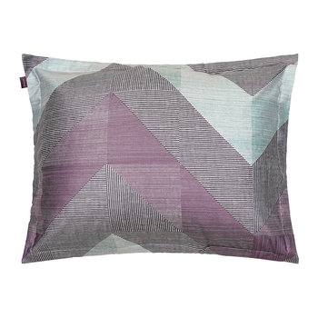 Grid Pillowcase - 50x75cm - Eclipse Blue