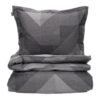 Grid Duvet Cover - Elephant Grey