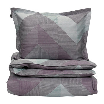 Grid Duvet Cover - Eclipse Blue