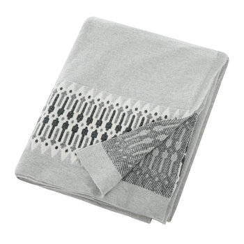 Nordic Knit Throw - 130x180cm - Grey