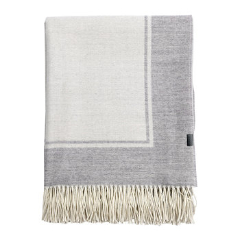 Border Throw - 130x180cm - Grey