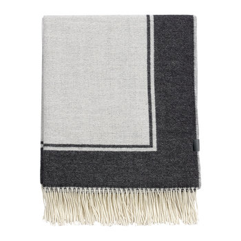 Border Throw - 130x180cm - Anthracite