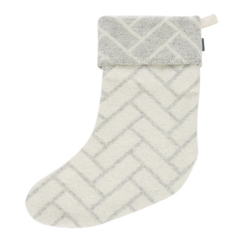 Wool Block Stocking - Grey
