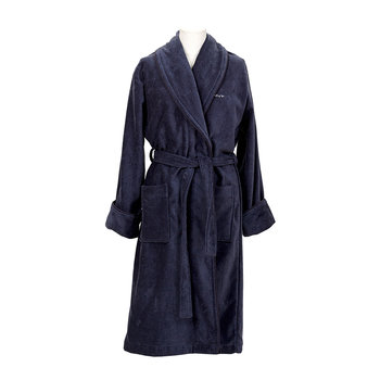 Premium Velour Bathrobe - Sateen Blue