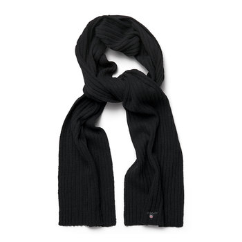 Cotton & Wool Scarf - Black