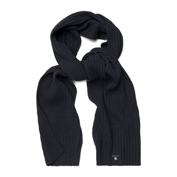 Cotton & Wool Scarf - Navy