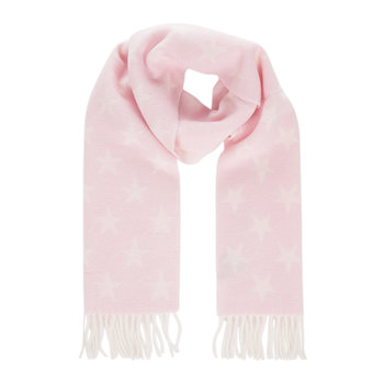 Star Lambswool Scarf - Light Pink