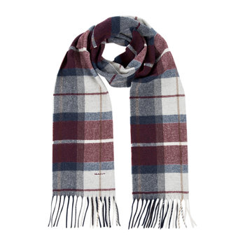Check Lambswool Scarf - Purple Wine