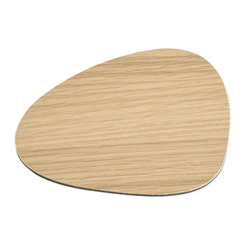 Small Reversible Table Mat Curve - Oak/Black