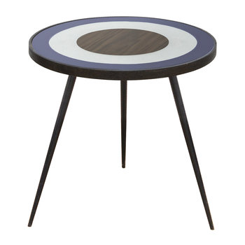 Bullseye Side Table - Blue