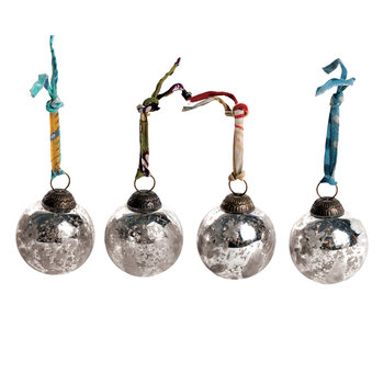 Antique Smoke Baubles - Set of 4