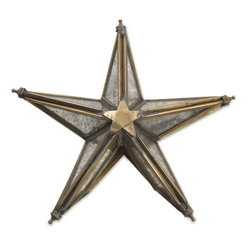 Bakara Star Tree Topper - Antique Brass