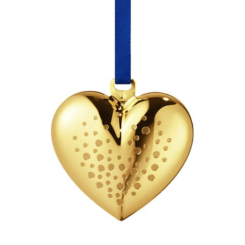 Heart Tree Decoration - Gold Plated Brass