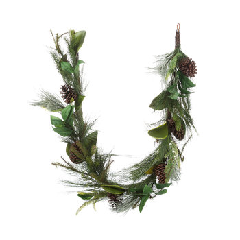 Mixed Needle and Pinecone Garland - 1.8m