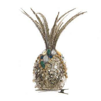 Glitter Decorative Pineapple on Clip