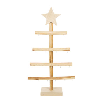 Wooden Decorative Tree with Hooks