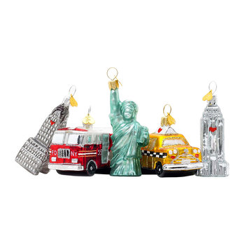 Little New York Tree Decoration - Set of 5