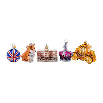 Little Royal London Tree Decoration - Set of 5