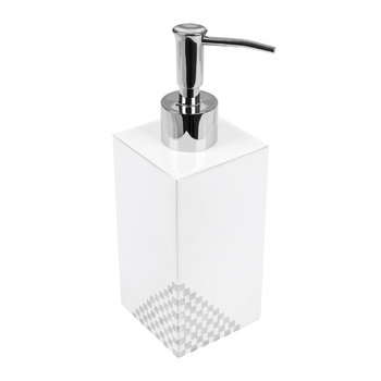 Matrix Soap Dispenser - White & Silver
