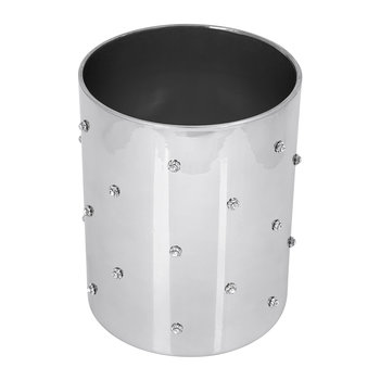 Nova Jewelled Glass Waste Bin - Silver