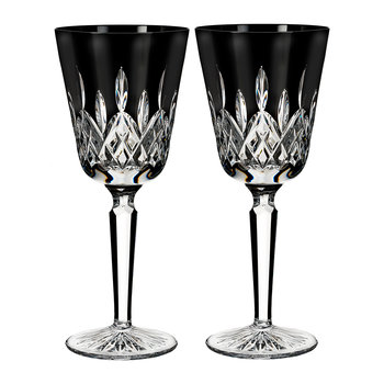 Lismore Black Wine Goblets - Set of 2