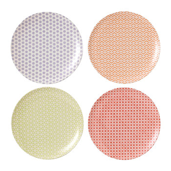 Pastels Salad Plate - Set of 4