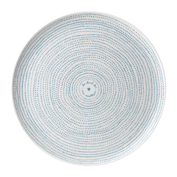 Ellen DeGeneres Serving Platter - Polar Blue Dots