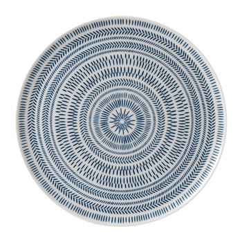 Ellen DeGeneres Serving Platter - Dark Blue Chevron
