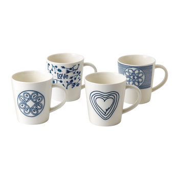 Ellen DeGeneres Love Mug - Set of 4
