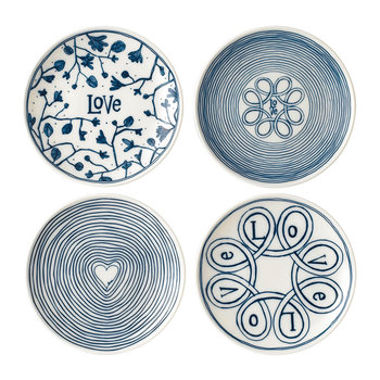 Ellen DeGeneres Love Plates - Set of 4