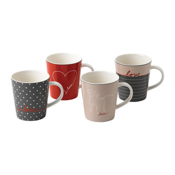 Ellen DeGeneres Signature Mugs - Set of 4