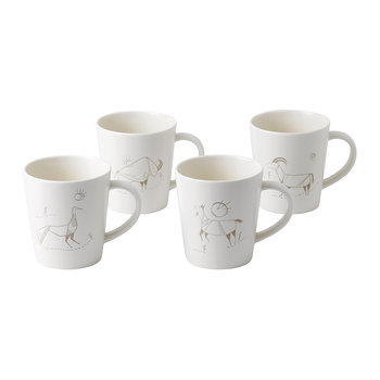 Ellen DeGeneres Cave Painting Mugs - Set of 4