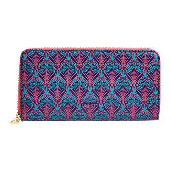 Iphis Large Zip Wallet - Navy