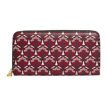 Iphis Large Zip Wallet - Oxblood