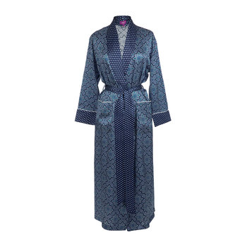 Women's Indiana Navy Long Robe