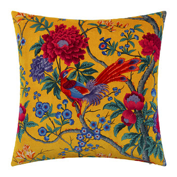 Elysian Paradise Velvet Pillow - 60x60cm - Yellow